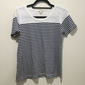 J.Crew striped short sleeve top